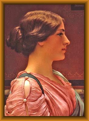pintura de John William Godward dama vintage para trabajos de scrapbooking