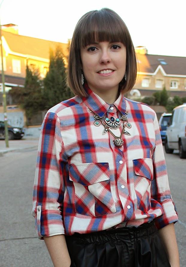 Camisa de cuadros + maxicollar