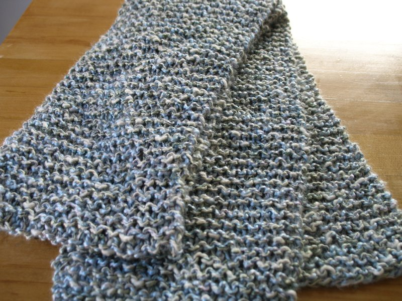 Knitting Styles English : Crafty crafts garter stitch scarf