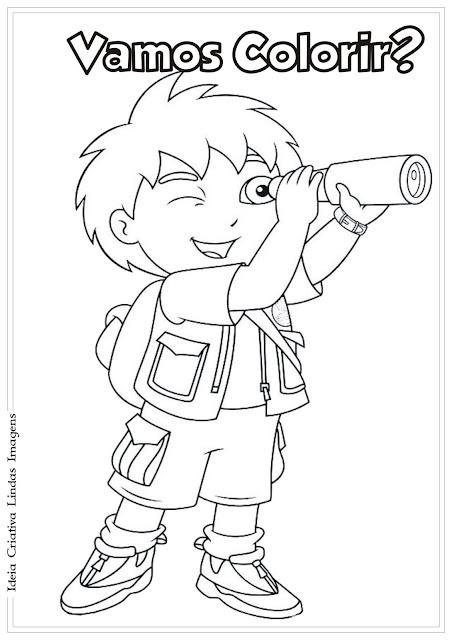 Go Diego Go para colorir