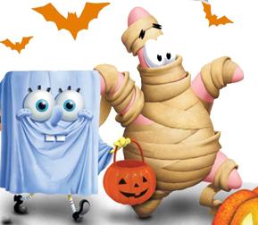 bob esponja y patricio en halloween
