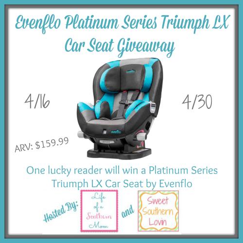 Evenflo Platinum Series Triumph LX Car Seat Giveaway