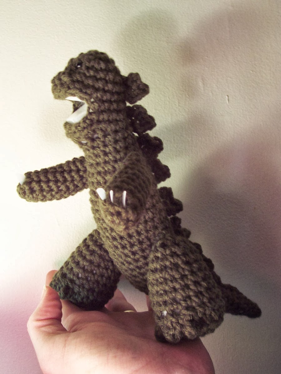 Crochet Patterns To Buy : awkwardly: Buy my Godzilla crochet pattern!