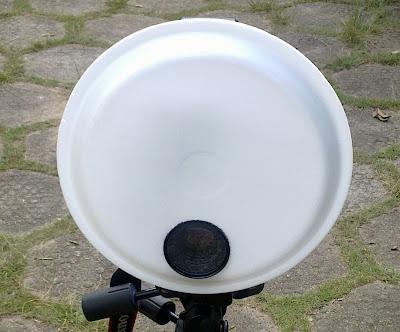 styrofoam dish flash diffuer