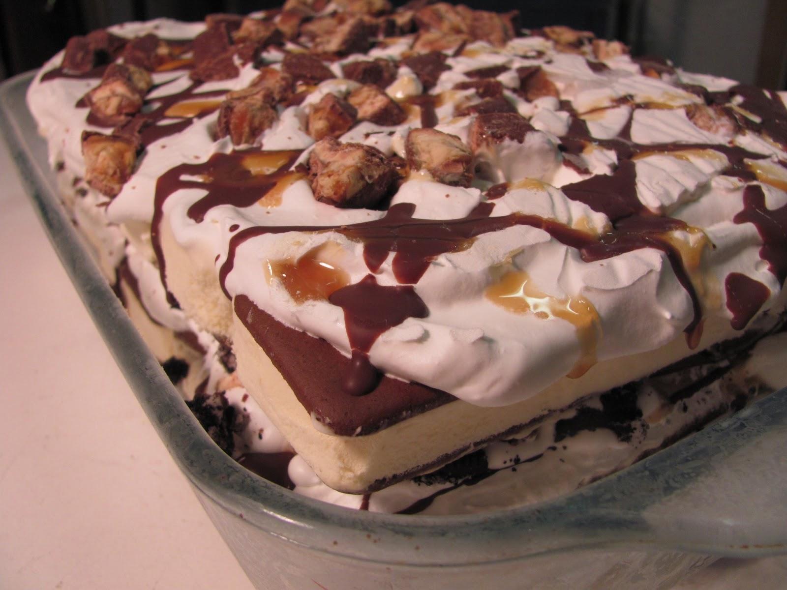 Better Than Burgers: Snicker Oreo Ice Cream Cake