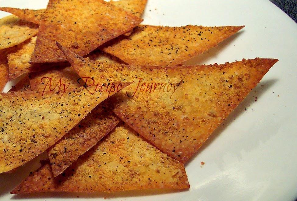 Garlic Parmesan Wonton Crackers