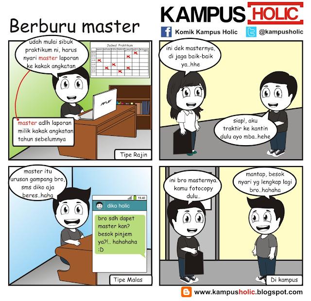 #121 Berburu master laporan praktikum ala mahasiswa kampus holic