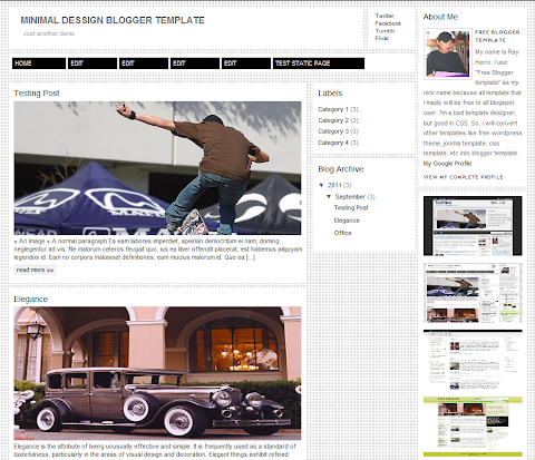 Minimal Dessign Blogger Theme