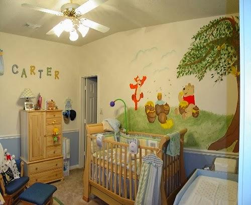 Chambre Petite Fille Lilas : Decoration chambre bébé winnie lourson  Bébé et décoration
