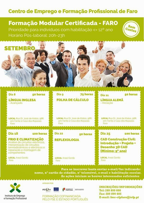Formação co financiada 2014 Faro (Algarve)