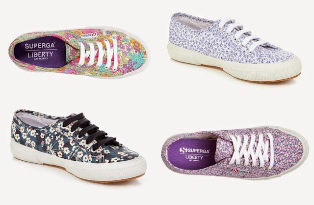 Superga Shoes and Liberty Art Fabrics Collaboration