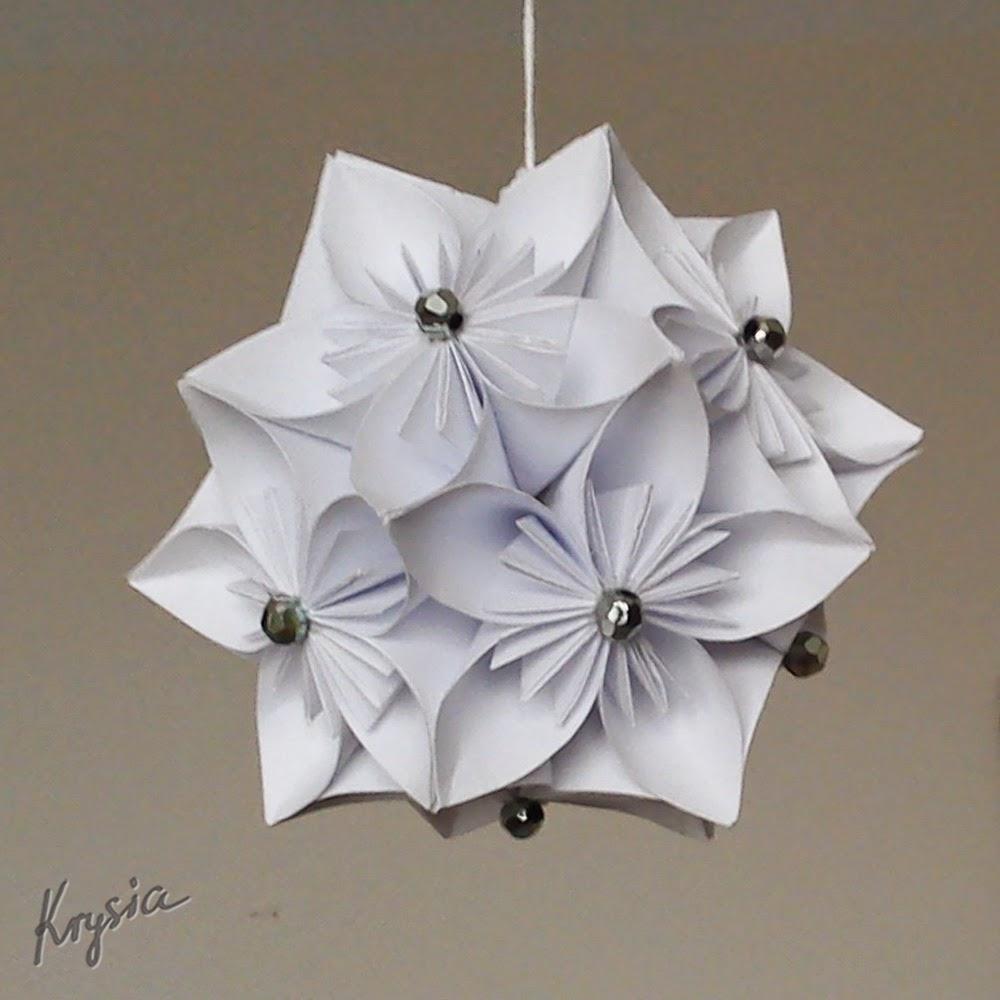 origami kula kwiatowa kusudama tutorial Krysia