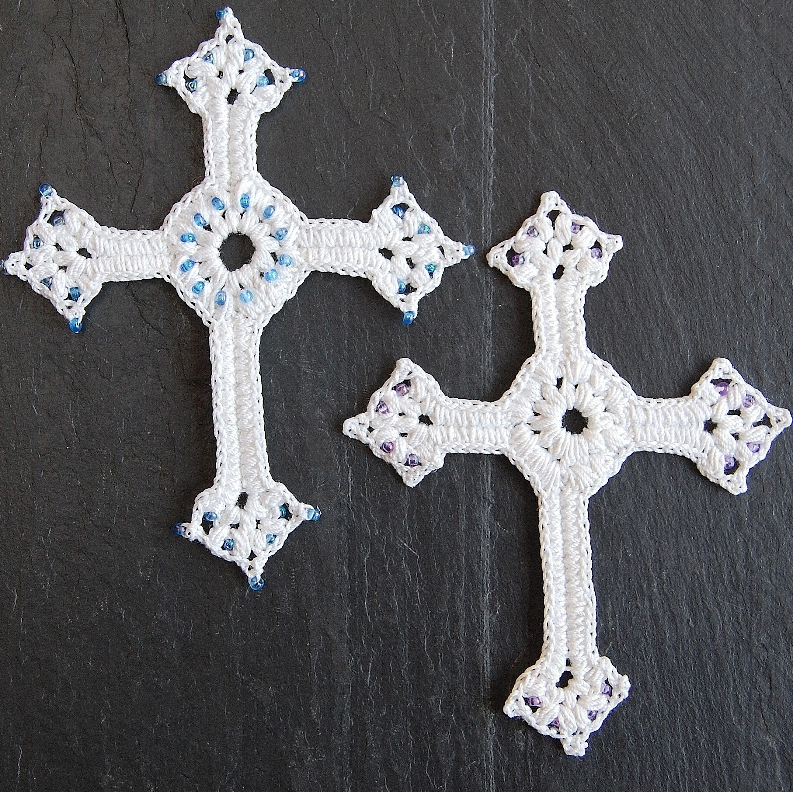 Crochet Cross : these crosses. If desired you can also brush the finished cross ...