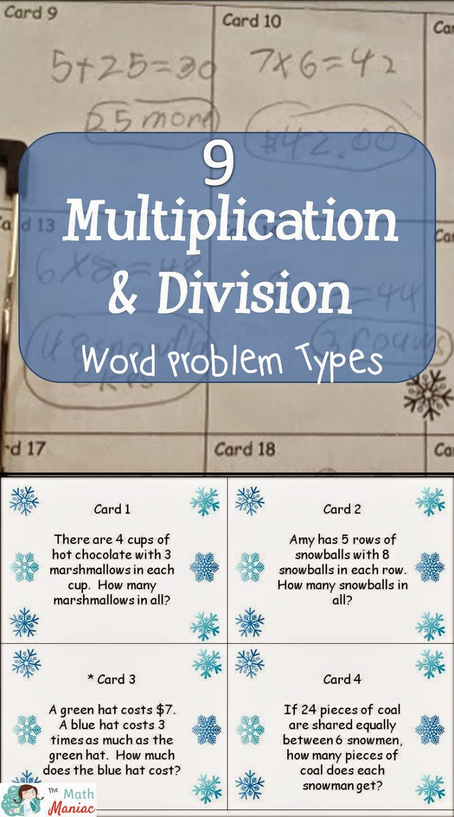 The Elementary Math Maniac: Multiplication and Division Word ...