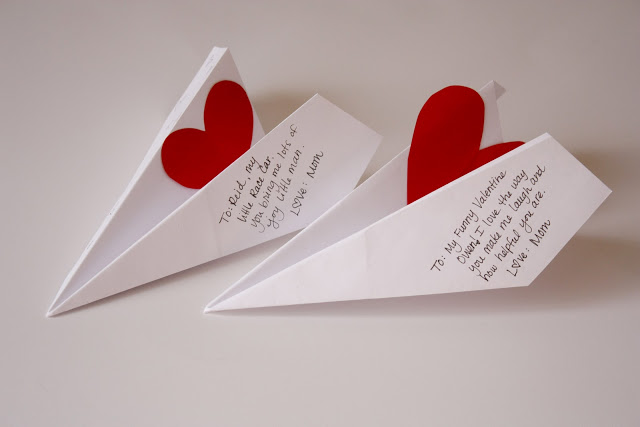 Be Different...Act Normal: 5 Paper Airplane Valentines