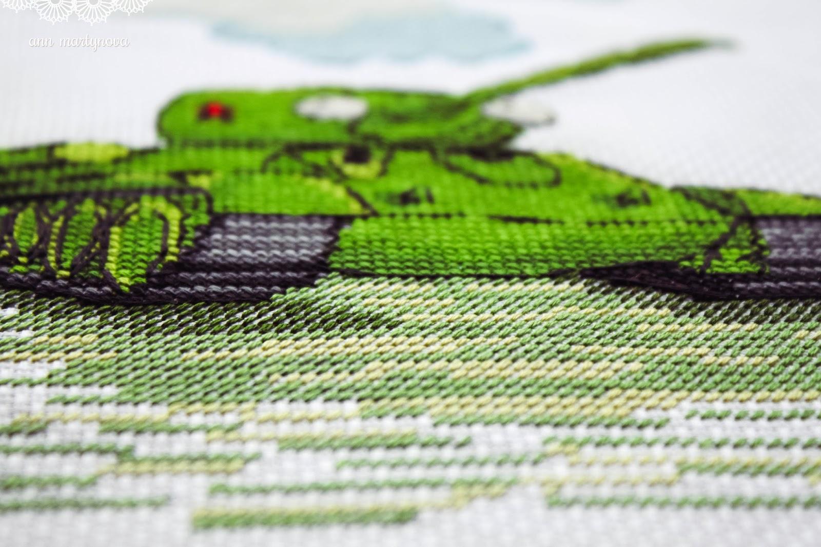схему вышивки крестом вид из окна на маяк
