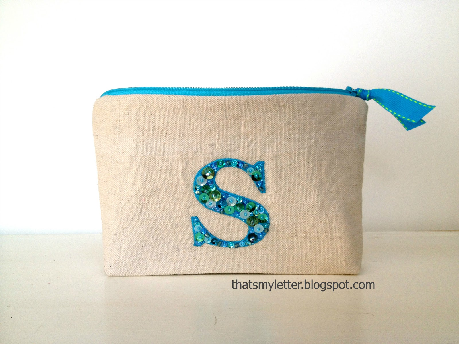 that39s my letter quotbquot is for blingy letter pouch With letter pouch