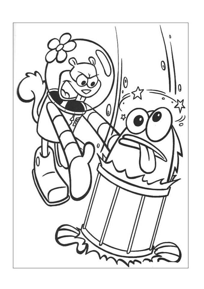 Desenhos Para Colorir Bob Esponja Na Fenda Do Bikini