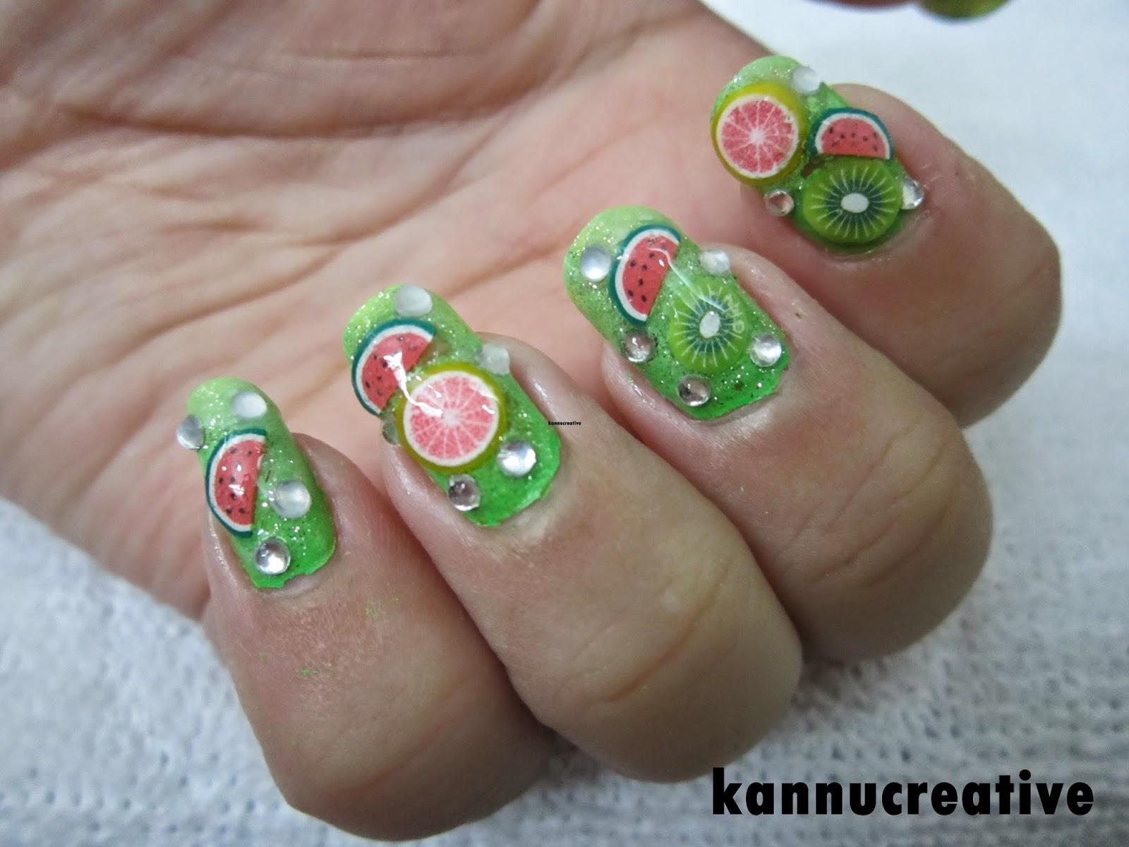 Her Creative Palace Todays Nail Art Fruity Fimos Nail Art Video