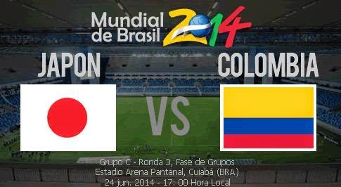 Partido Japón vs Colombia