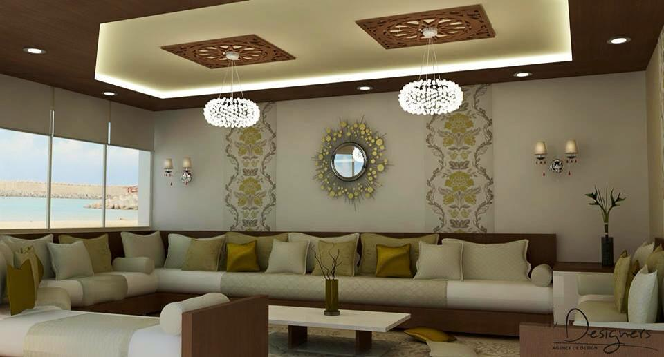 Salon marocain salon marocain moderne de luxe 2016 for Decoration interieur sejour salon