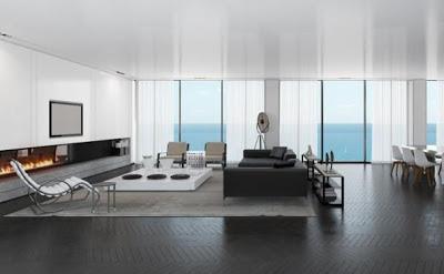 diseño sala minmalista