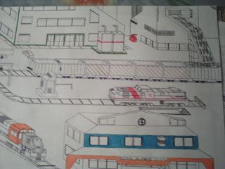 Fábricas e trens de carga (desenho)