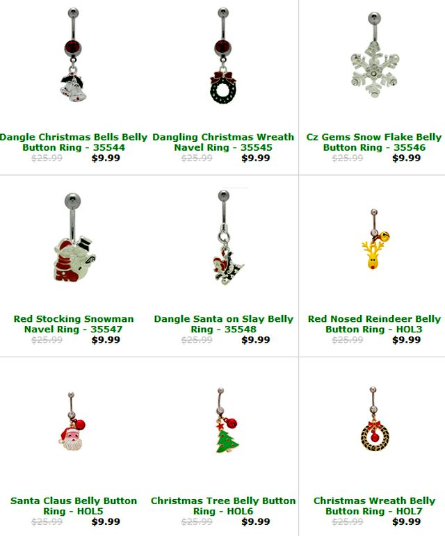 BodyJewelry.com - Holiday Body Jewelry