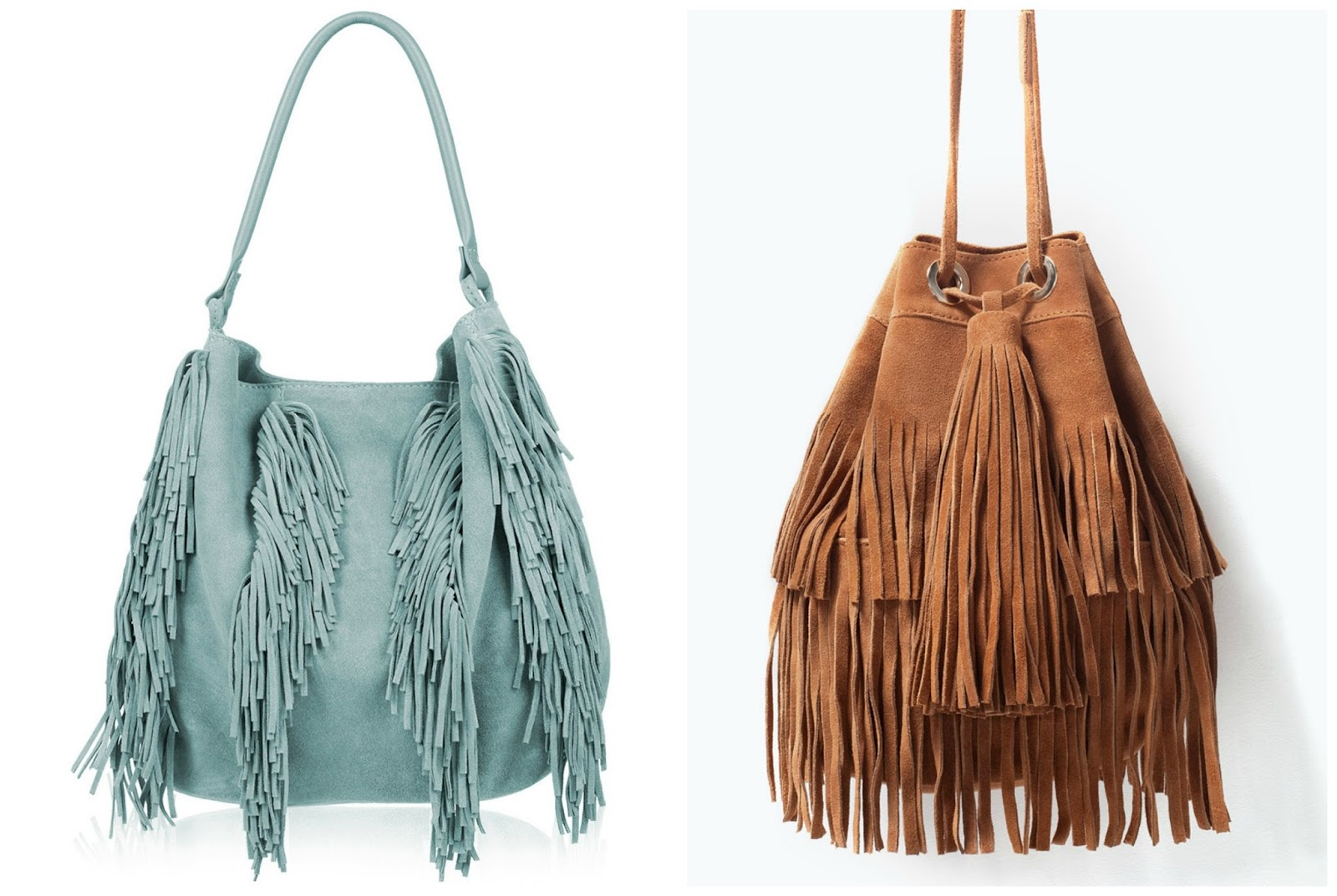 Suede Hobo Bag With Fringe | Bags More