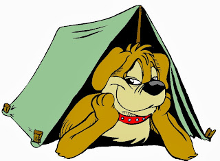 camping σκύλος