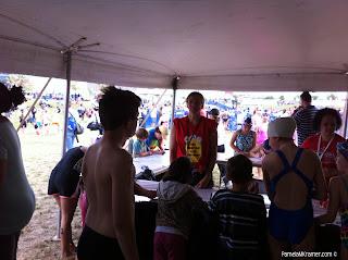 Houston Kids Triathlon under the tent