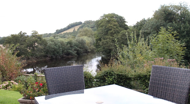 views from garden terrace at Newbridge on Usk