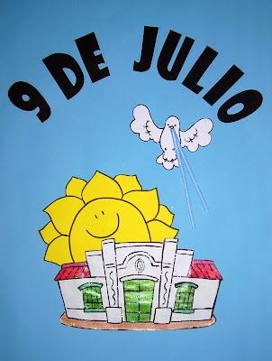 Pasitos de colores 9 de julio d a de la independencia for Decoracion 9 de julio