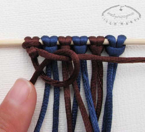 węzeł rypsowy - makrama - 9