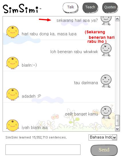 Chatting Seru+Gokil Bersama Simsimi