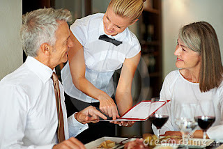 Customer care at restaurant