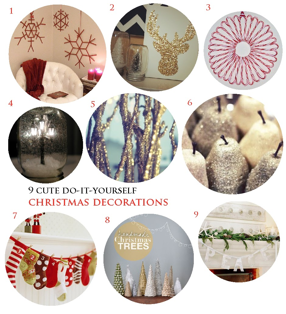 The Luckiest: 9 Cute DIY Christmas Decorations