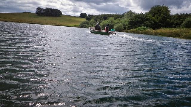 Boating at Wimbleball Lake