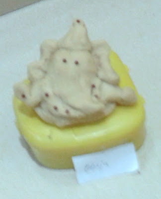 little eco friendly ganpati made of flour