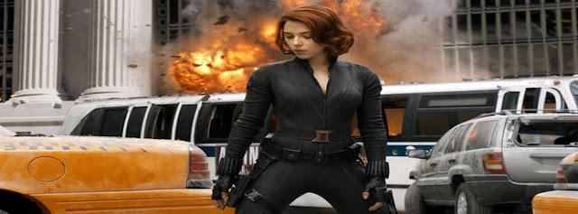 Scarlett Johansson in Avengers Facebook Cover