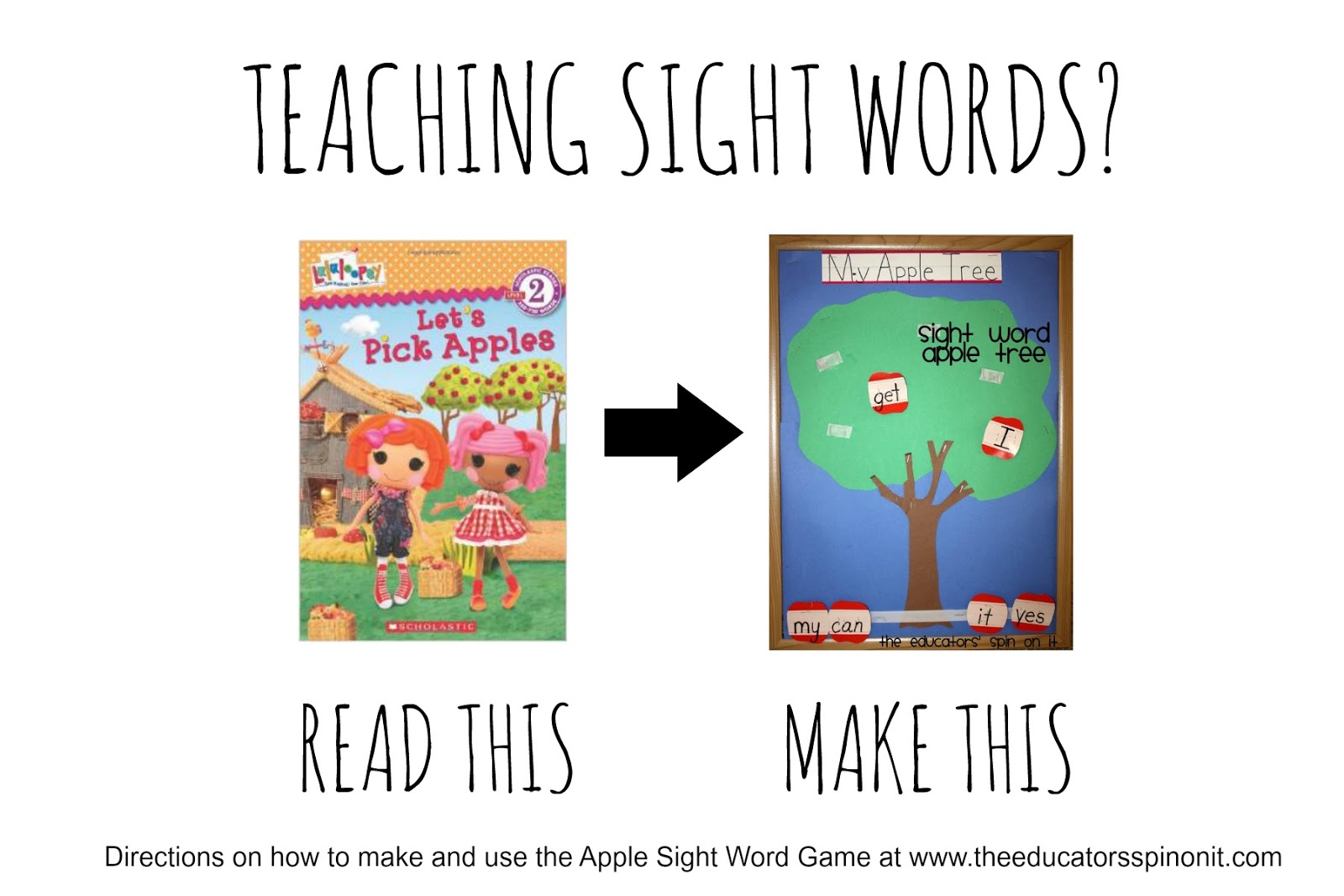 "Teaching Sight Words? Read ""Let's Pick Apples"" and Make an Apple Tree Sight Word Game"