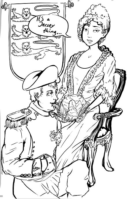 Napoleon Bonaparte eating cabbage