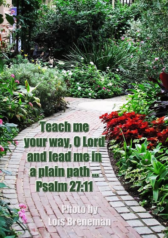 Garden Path - Psalm 27:11