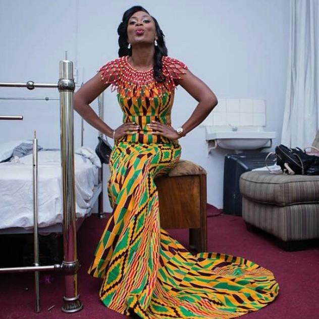 Beautiful Ghanaian Kante Styles Long Skirt Dezango