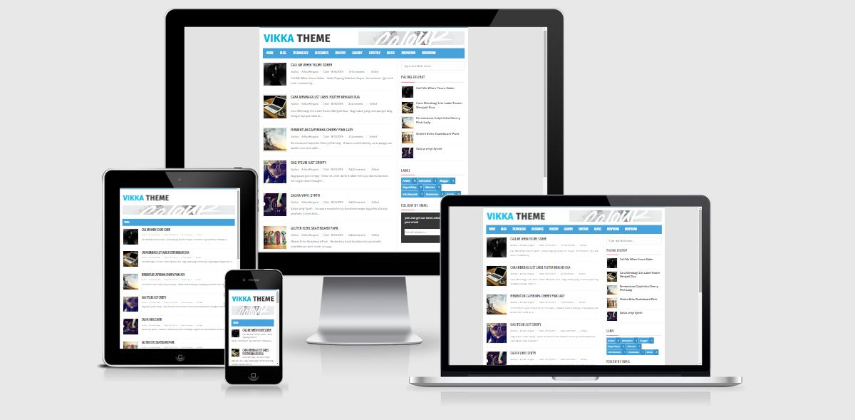 Awesome Blogger Responsive Templates Pictures Inspiration ...