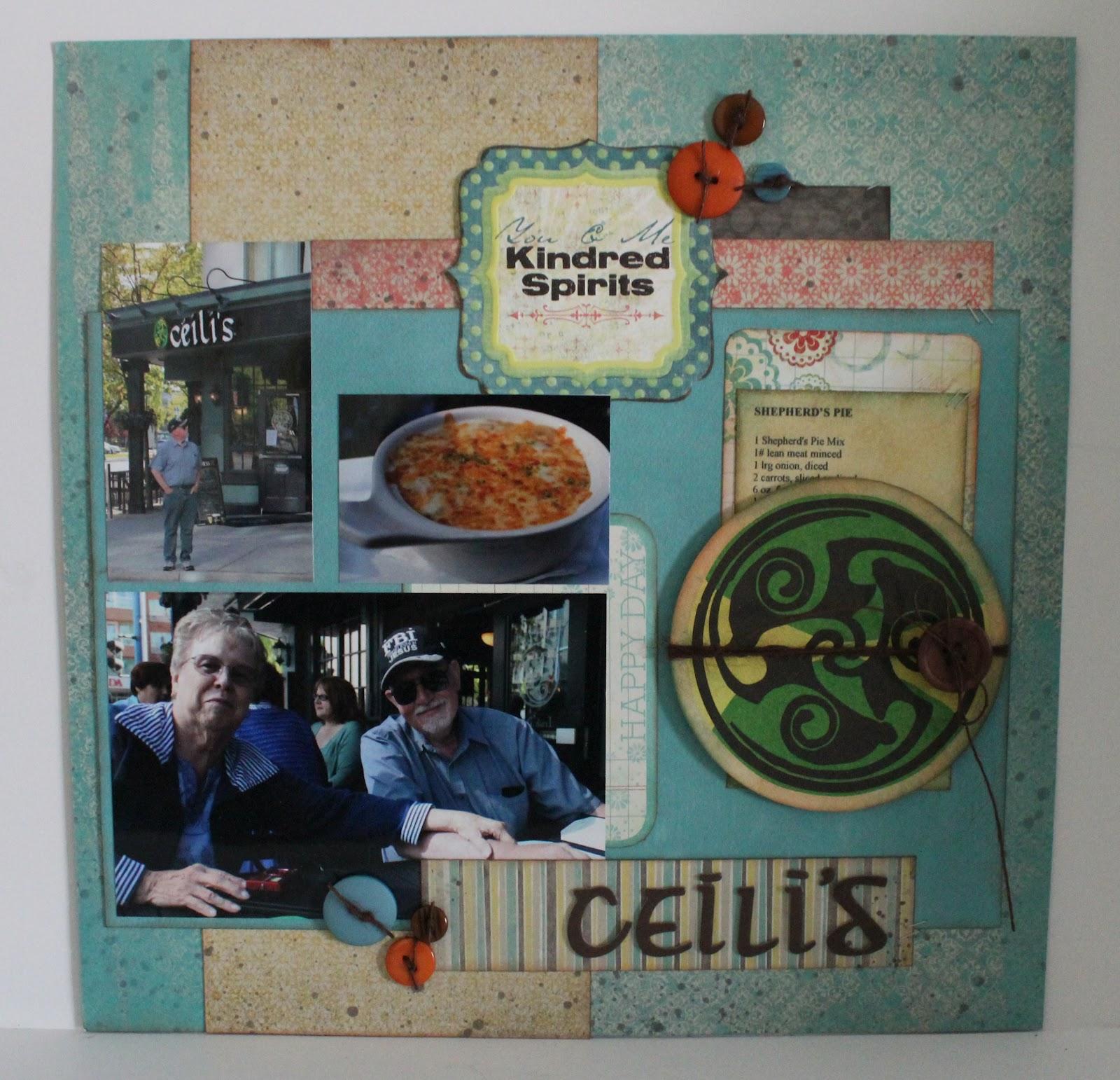 Scrapbook flair pam bray designs ceili s restaurant