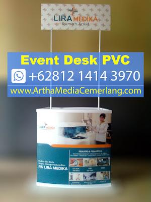 Harga Meja Event Desk, Contoh Meja Display, Meja Promosi Depok