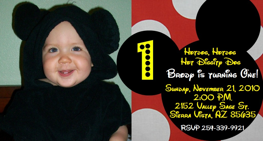 Mickey Mouse 1st Birthday Background 1st Birthday Party Mickey