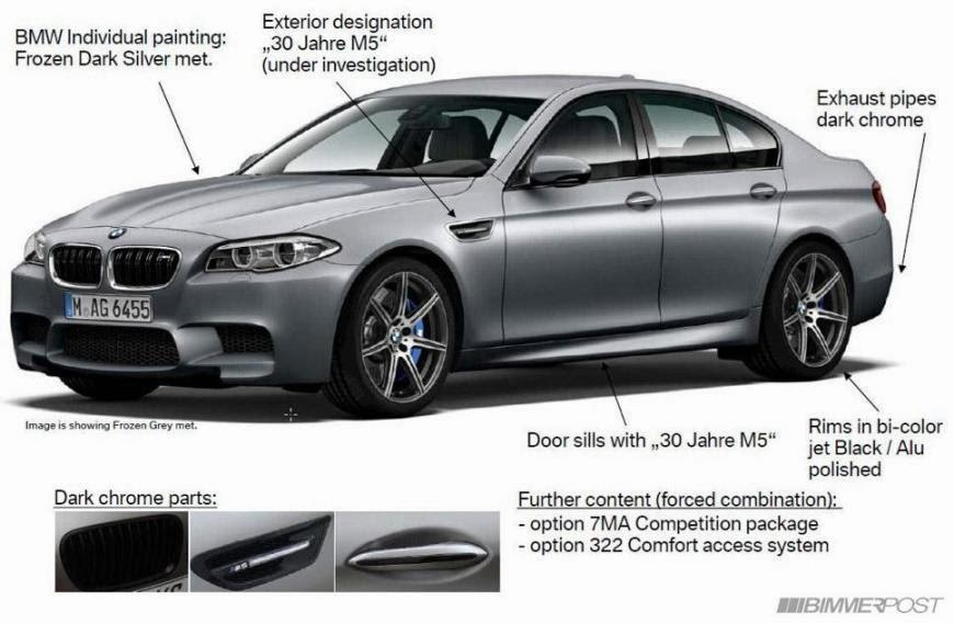 "Leaked: 2015 BMW M5 Special Edition ""30th Anniversary"""
