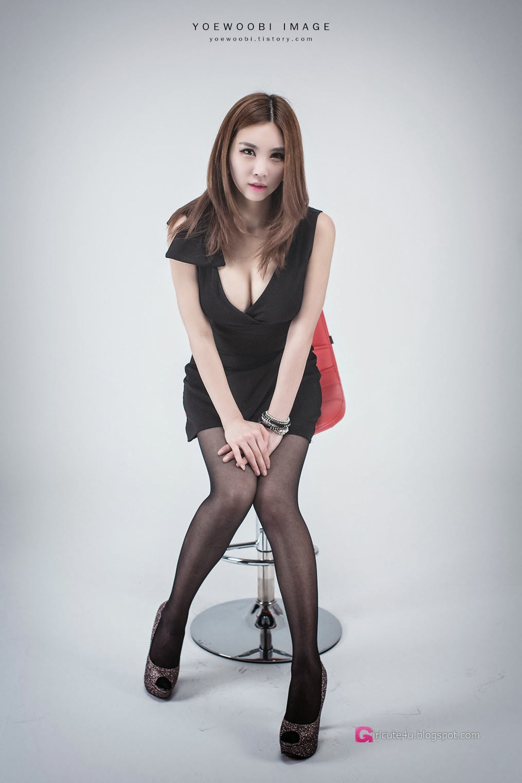 5 Lee Eun Yu - Little Black Dress - very cute asian girl-girlcute4u.blogspot.com